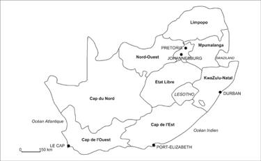 Carte 1 : Afrique du Sud.