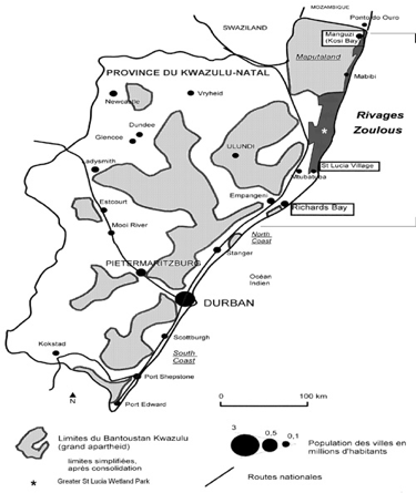 Carte 2 : Le KwaZulu-Natal.