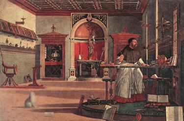 Image : à partir de Carpaccio, Saint-Augustin, 1502.