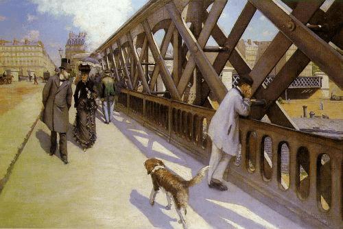Image : Gustave Caillebotte, Le pont de l'Europe, 1876, Petit Palais, Genève ©. Merci à Mark Harden's Site.