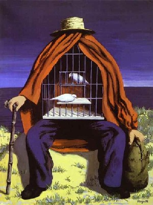 Image : Magritte, Le thérapeute, 1941, gouache sur papier, collection privée. Merci à Abc Gallery.