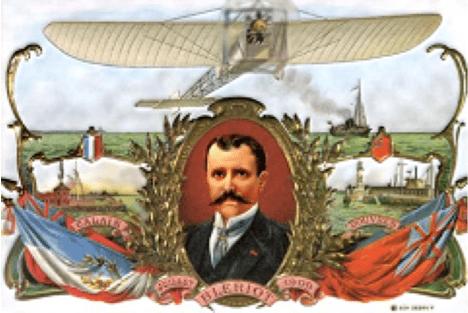 Image 1 : Le culte de Louis Blériot en carte postale, 1909, coll. pers.
