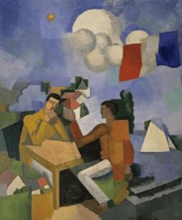 Image 2 : Roger de La Fresnaye (1885-1925), La Conquête de l'air, 1913, huile sur toile, 235,9 x 195,6 cm, The Museum of Modern Art, New York.