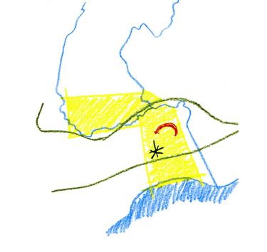 Illustration 4 : Exercice 3, hypothèses d'aménagement « Au fil du sport ».