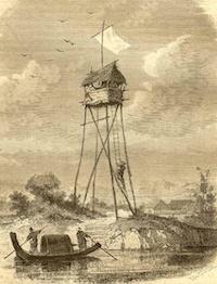 Illustration: Jules Lavée, illustration pour «L'Ambassade à Hué» en Cochinchine, parue dans la revue Tour du monde, le 26 janvier 1878.