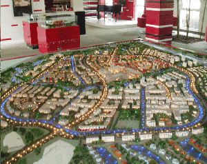 Fig. 1 : Model, Anting New Town, Shanghai.