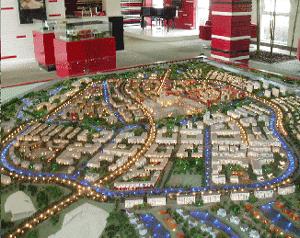 Abb.1: Modell von Anting Neustadt, Shanghai.