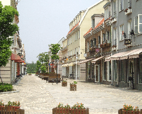 Abb. 18: Fußgängerzone ohne Fußgänger in Luodian.