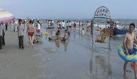 Détail du bord de mer à la plage de Beihai. Cliché de l'auteur, 2006.
