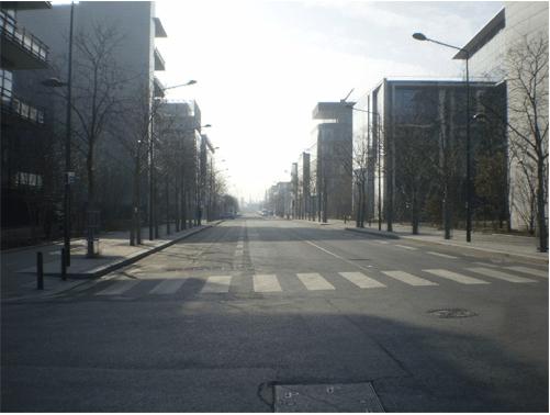 Nouveaux quartiers d'affaires, plaine de Saint-Denis. Cliché : Olivier Legros, février 2009.