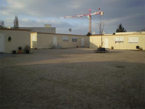 L'espace central du « village » d'Aubervilliers. Cliché : Olivier Legros, février 2009, avec l'autorisation de l'Alj 93.