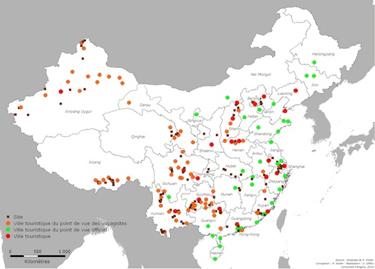 Carte 4: écarts entre les lieux cités dans les statistiques gouvernementales et ceux relevés grâce à la méthode fondée sur l'étude des catalogues des tour-opérateurs.