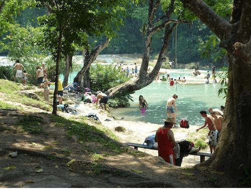Les Cascades d'Agua Azul, espace-enjeu. Auteur : C. Marie dit Chirot, 2010.