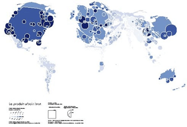 Figure 11 : The World: A Basic Pattern Map. Source: Jacques Lévy, 2008a