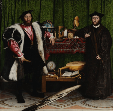Figure 4 : Hans Holbein, The Ambassadors: An Anamorphous Vanity. Source: National Gallery, Londres.