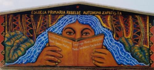 Figure 1. Photo d'une école primaire en territoire autonome zapatiste (Stéphane Guimont Marceau, mai 2004).
