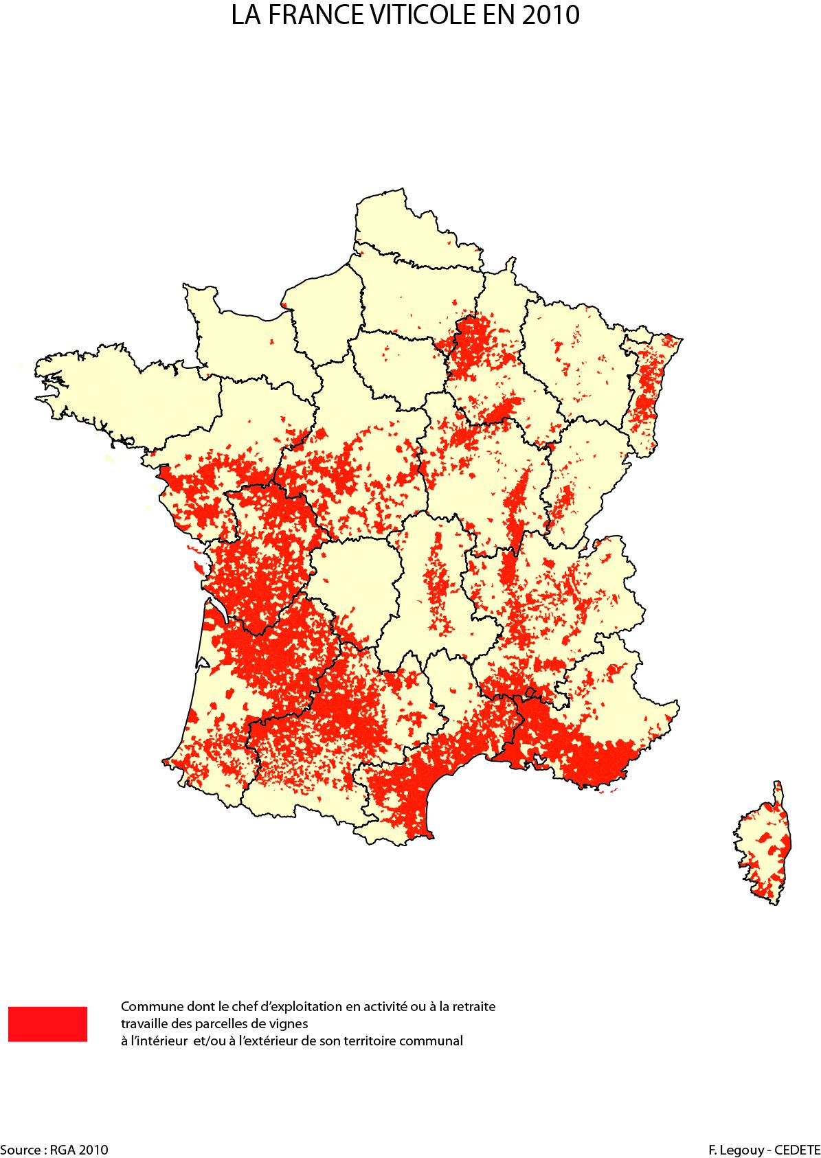 Carte Bourgogne Viticole.La Geohistoire De L Espace Viticole Francais Sur Deux Siecles 1808