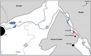 Figure 1 : Carte de localisation. Source : Romain J. Garcier et Yves-François Le Lay.