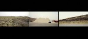 Illustration 17 : Juliet Davis, Armelle Rabaté, « Nivellement du paysage », vidéo couleur, muette, projetée (petites dimensions), 8 minutes, en boucle.