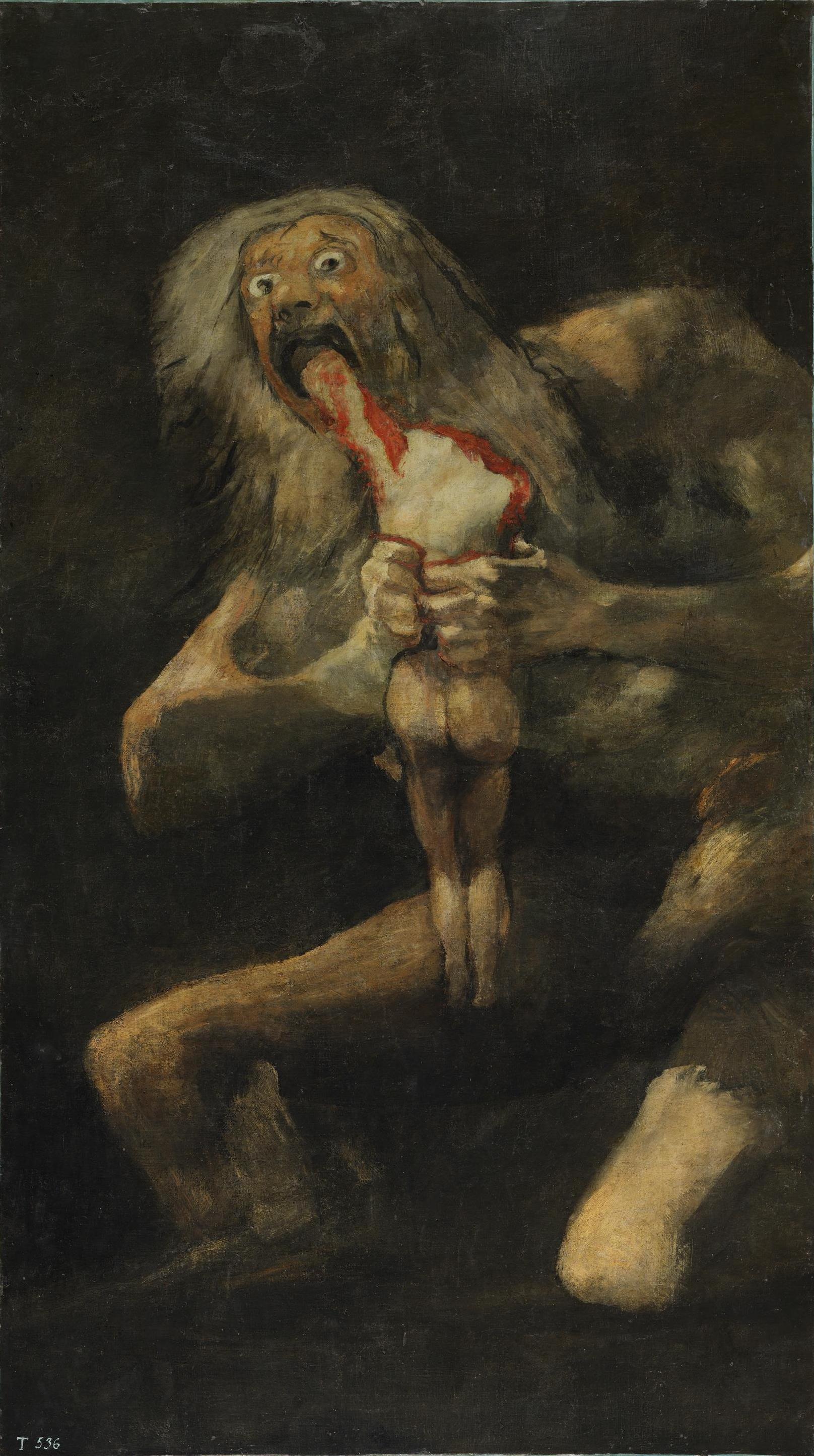 Figure 6 : « Saturne dévorant un de ses fils », Goya, 1819-1823. Source : Wikipedia.